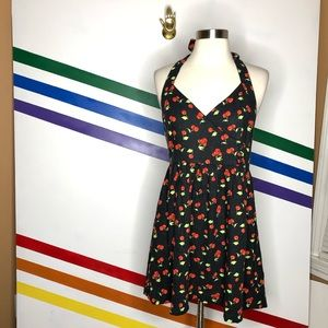 NEW Urban Outfitters cherry halter dress